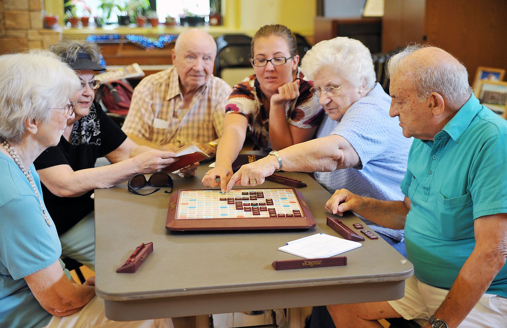 Playing games like Scrabble is a great way for seniors to