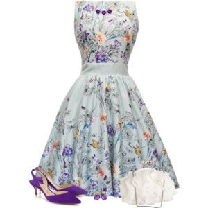 Butterfly Floral Tea Dress