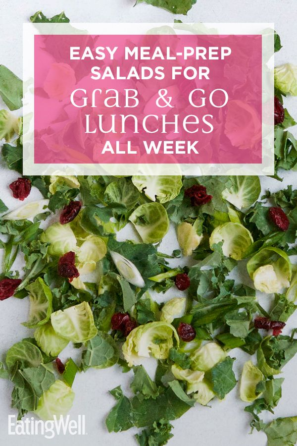 How to Make Easy Meal-Prep Salads for Grab-&-Go Lunches All Week Prepping an at-home salad bar makes healthy eating even simpler than ordering takeout. Get our step-by-step tips for making your own salad bases to keep in the fridge, plus some of our favorite salad combo ideas to try.