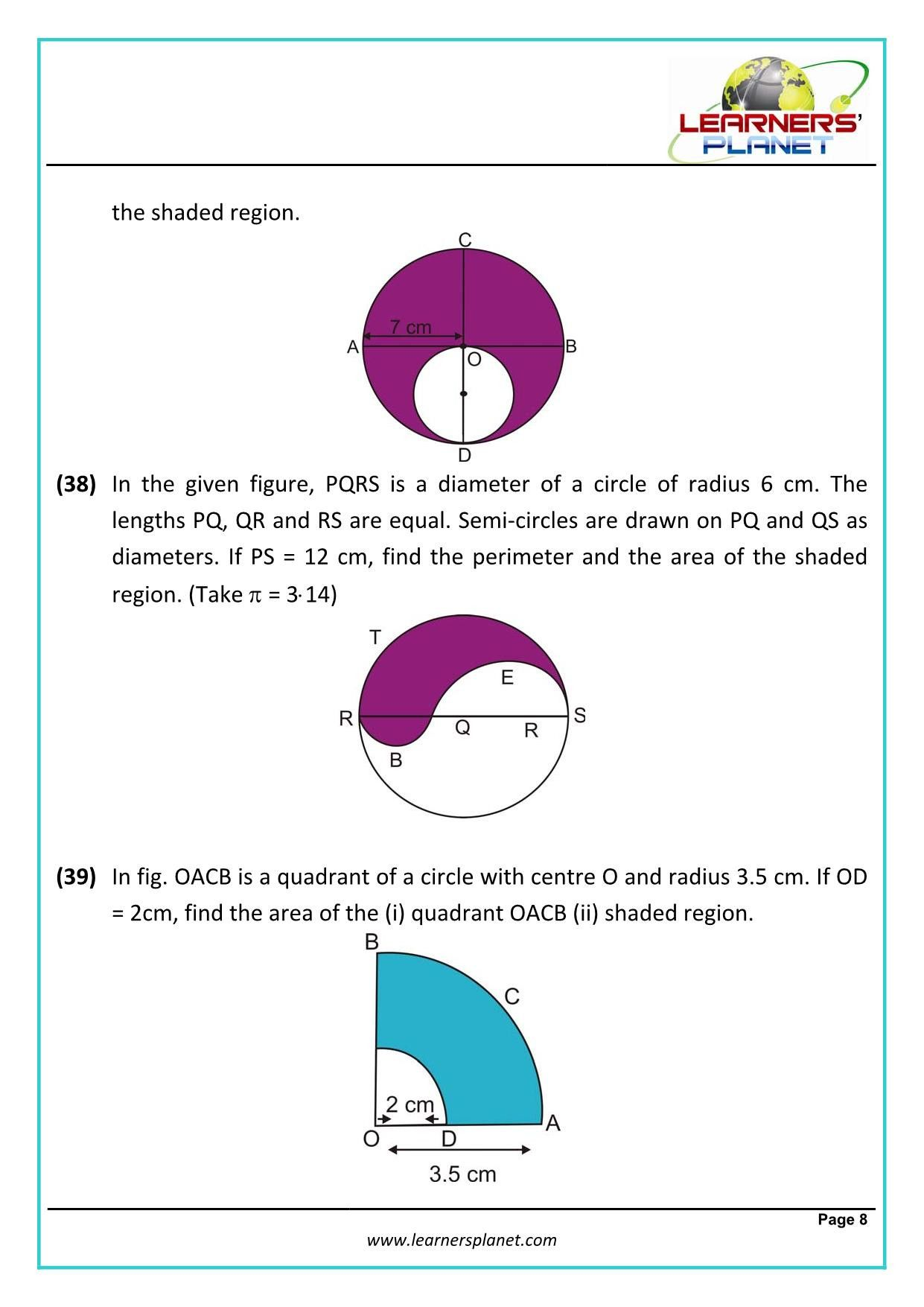 New Area And Circumference Of A Circle Worksheet