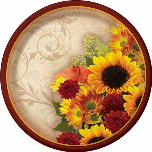 Floral Inspiration Autumn Banquet Plates  sc 1 st  Pinterest & Floral Inspiration Autumn Banquet Plates | Bridal Shower Ideas ...