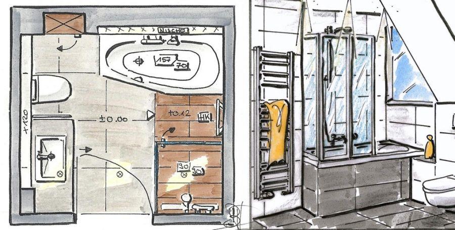 Badezimmer Ideen Für Kleine Bäder Dachschräge mit Bildern ...
