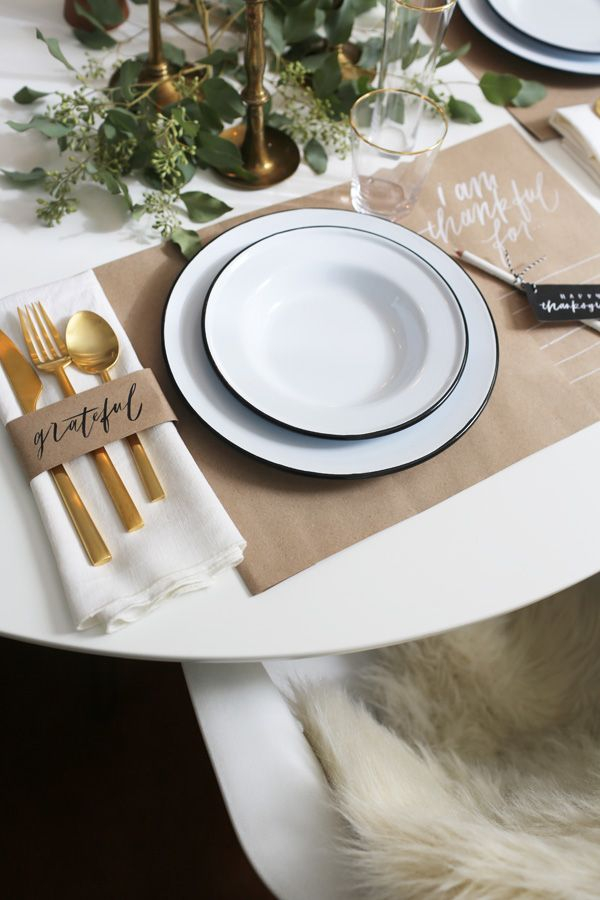 Thanksgiving Place Setting Ideas | Place setting, Thanksgiving and ...