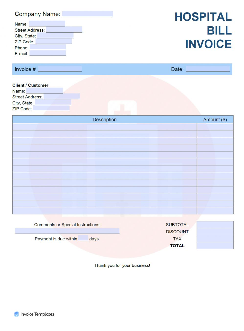 Explore Our Example Of Medical Bill Statement Template For Free Statement Template Financial Documents Medical Billing