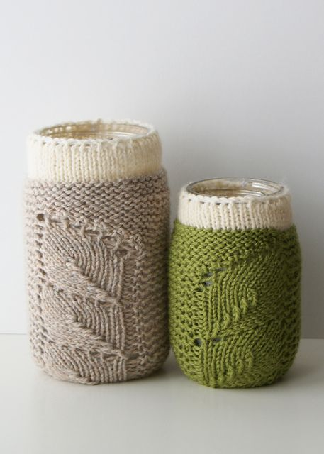 Ravelry: Spring Sprouts Mason Jar Covers pattern by Erin Black