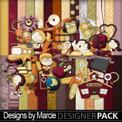 Enjoy the creative world of the #DesignsByMarcie @mymemories.com #Craft #Creative #Digital #Scrapbook #Fun #School_bell_1