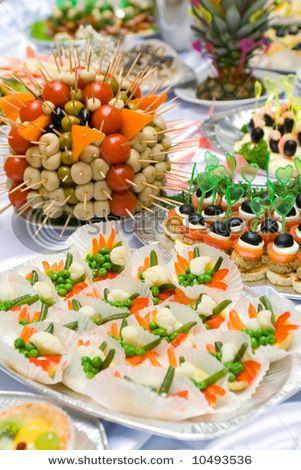 Appetizer buffet table display idea