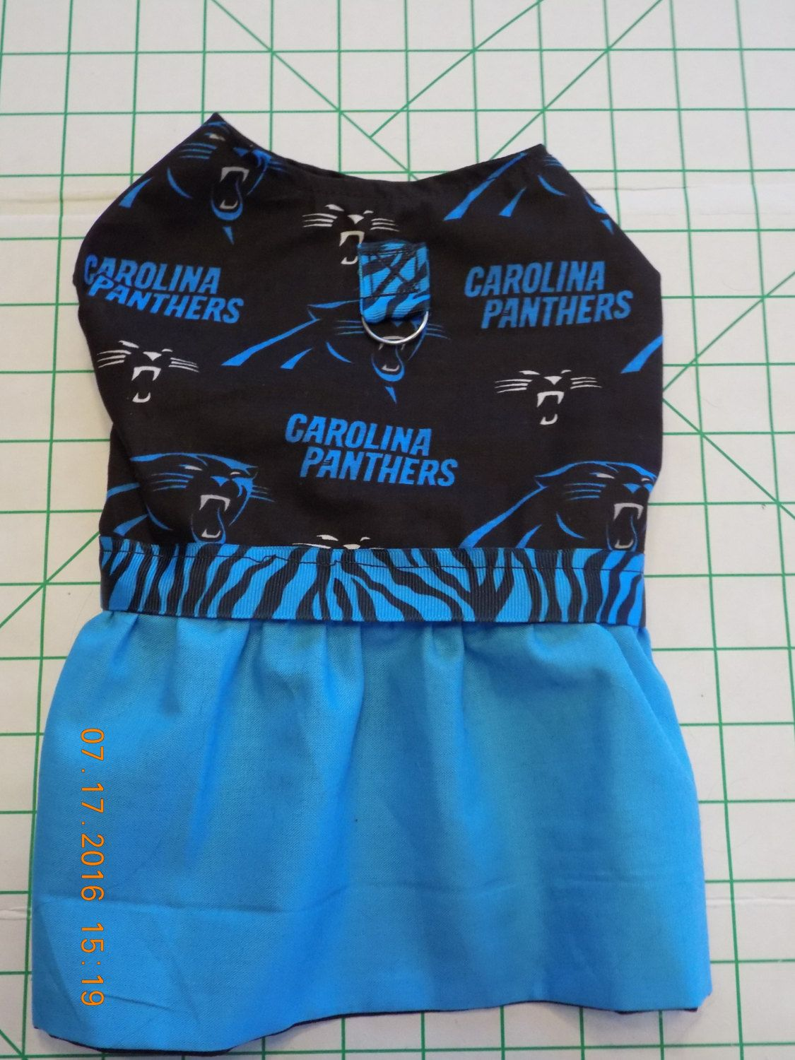 Carolina Panthers  Dog Dress  Ready to Ship  size MEDIUM  A Must Have for… 9004855c5