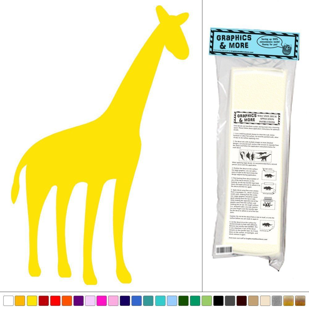 Graphics and More Giraffe - Cute Animal Africa Safari Kids Baby Room ...