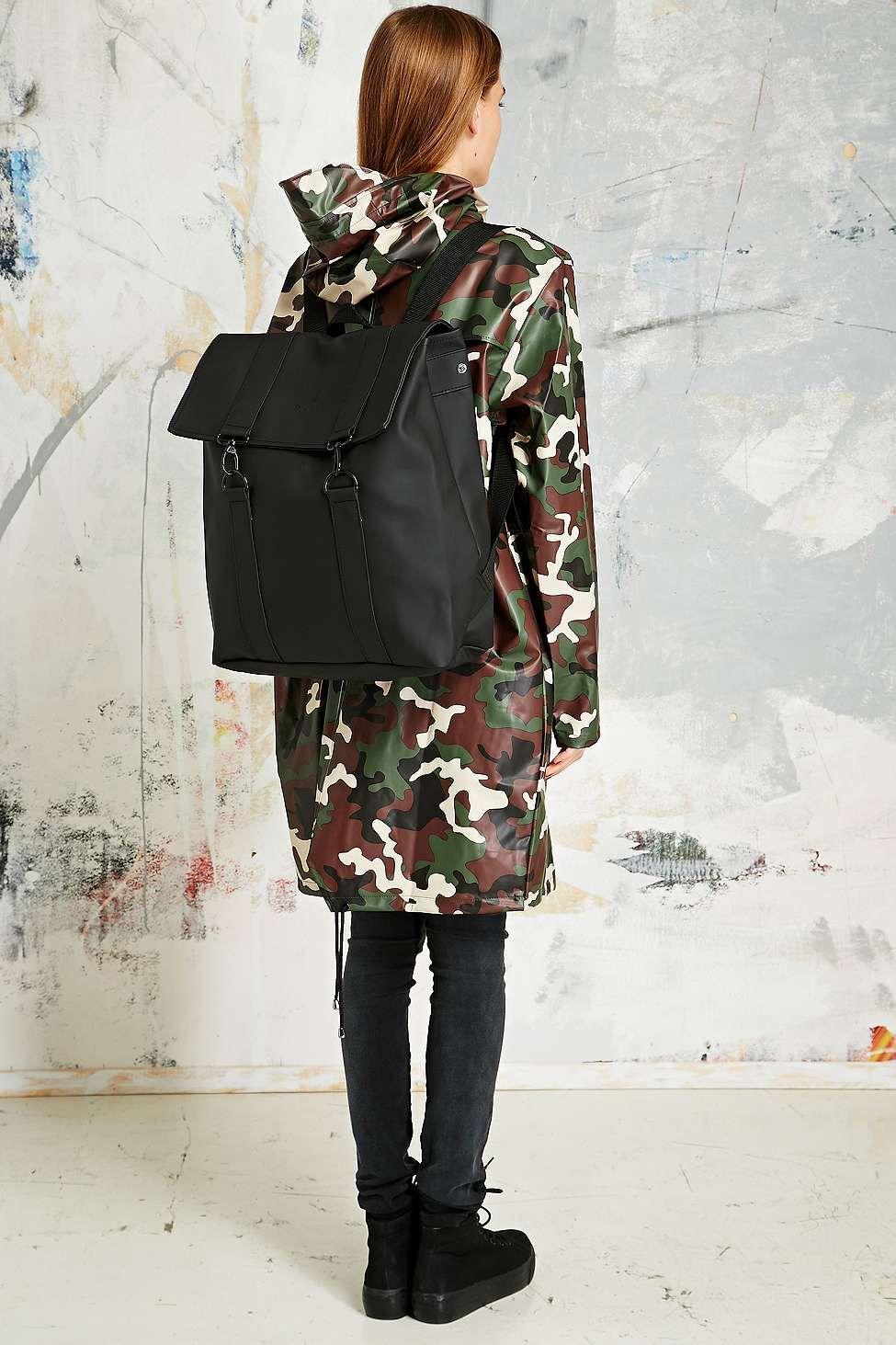Rains Messenger Black Backpack Women