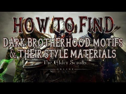 Elder Scrolls Online | How to Find All Dark Brotherhood DLC Motifs