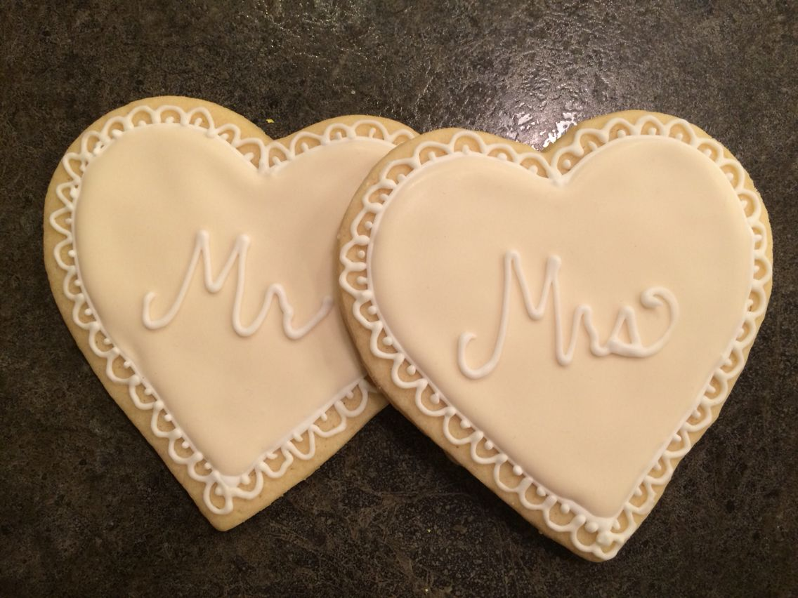 Wedding sugar cookie favors with Royal icing Sugar