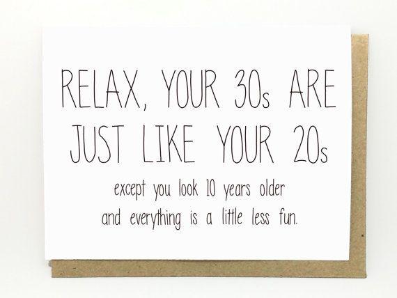 Funny Birthday Card 30th Birthday Card Birthday Card 20s And 30s 30th Birthday Quotes Funny Birthday Cards 30th Birthday Cards
