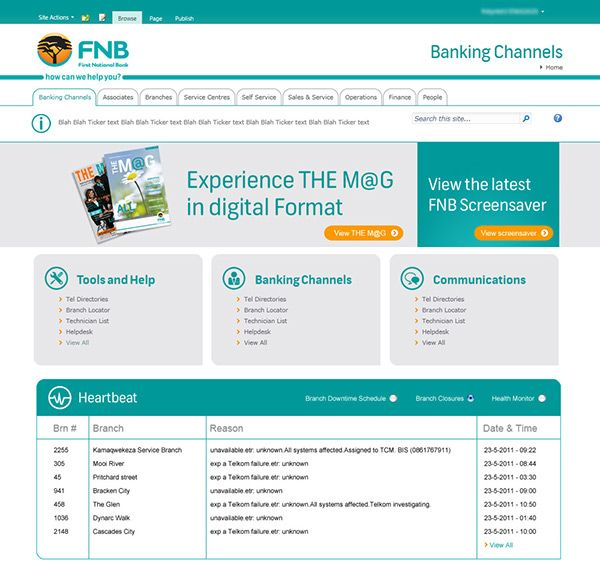 sharepoint 2010 themes for fnb intranet - Sharepoint Design Ideas
