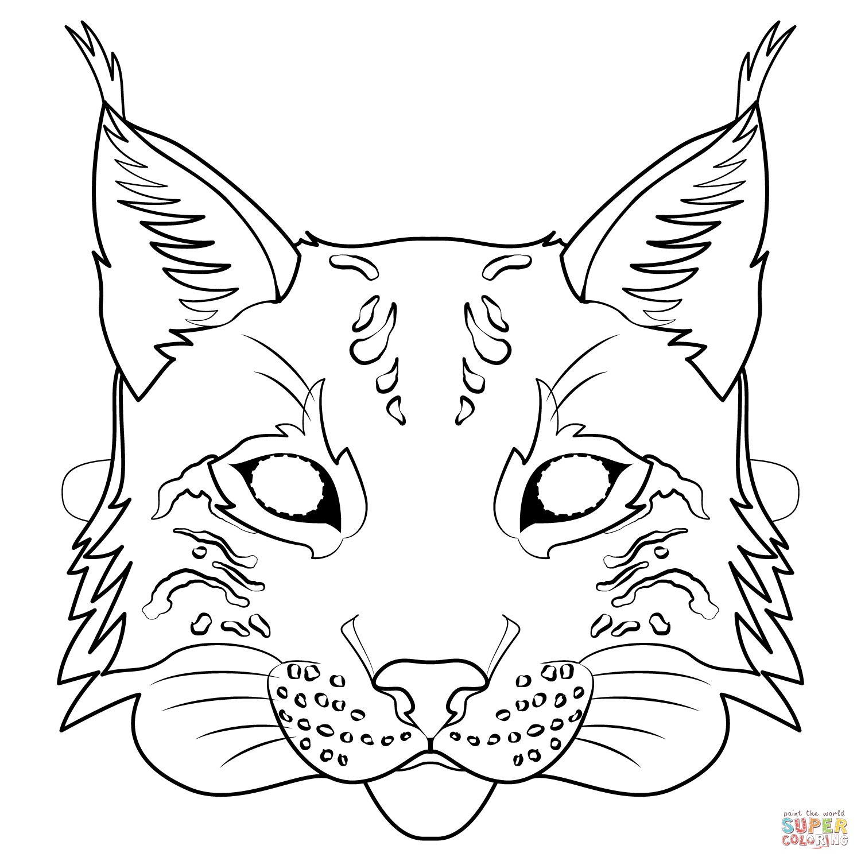 Lynx Mask Coloring Page Free Printable Coloring Pages Coloring Pages Free Printable Coloring Pages Animal Masks