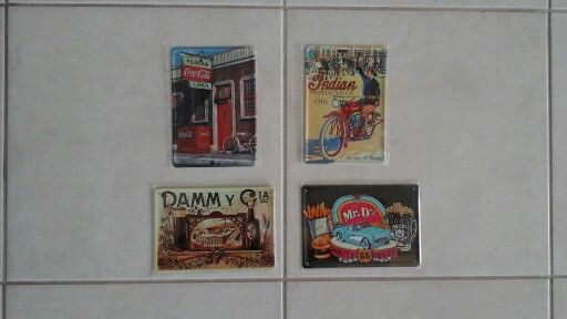4 small  tin signs $ 4-00 EACH