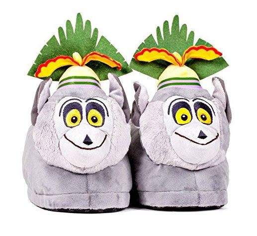 a5dfc112c992 Jump up and dance with these King Julien plush slippers.