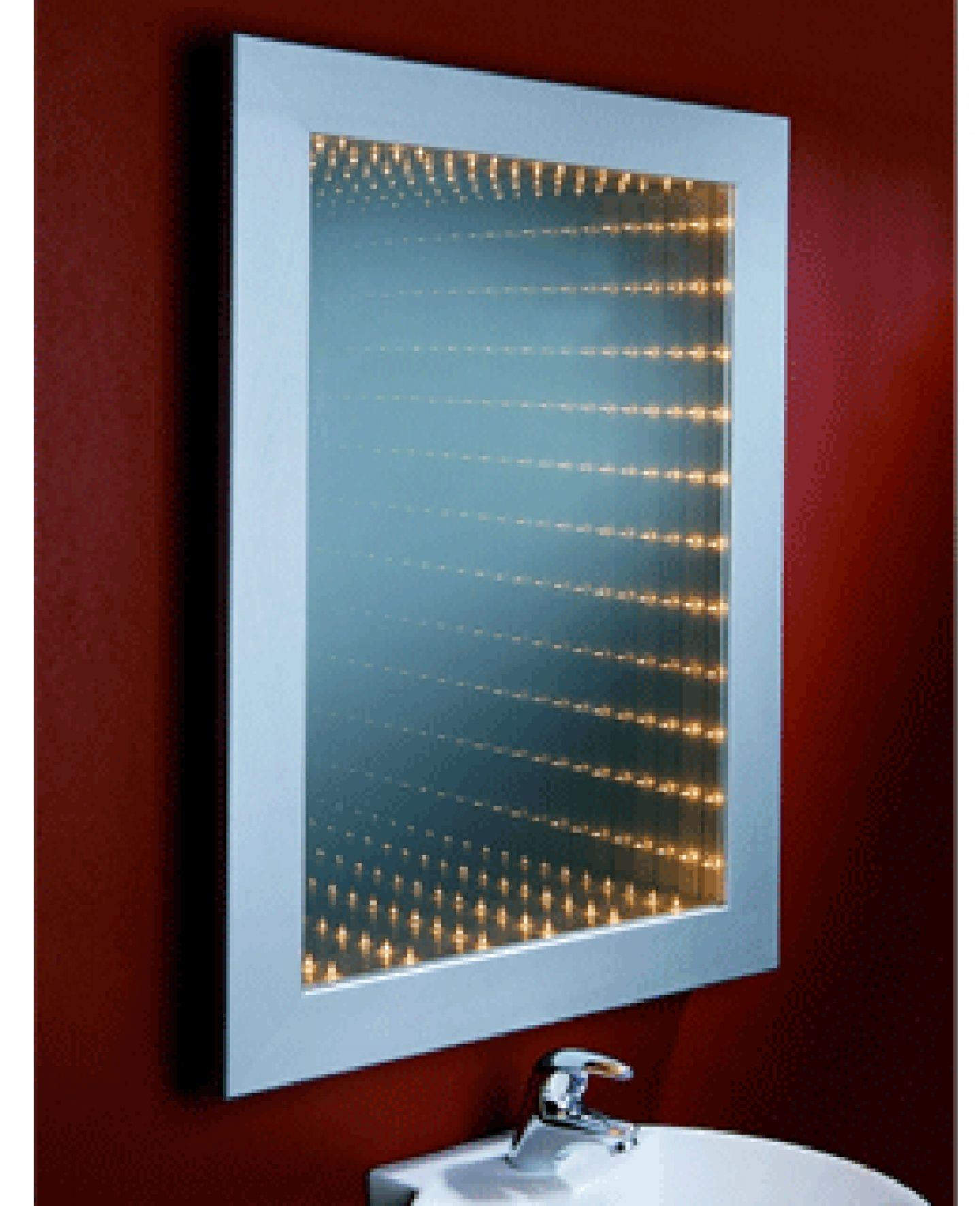 Infinity bathroom mirror - Bathroom Mirror With Lights And Shelf Placing Bathroom Mirror With Light