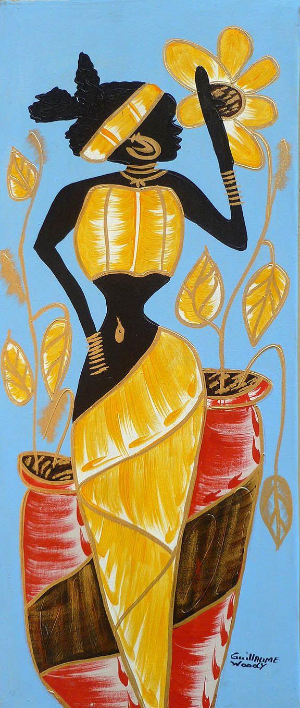 Haitian Art Canvas Painting - Haitian Market Scene - Art of Haiti ...