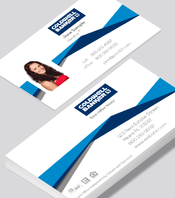 Modern contemporary business card design coldwell banker real modern contemporary business card design coldwell banker real estate modern business card online printing services for realtors reheart Gallery