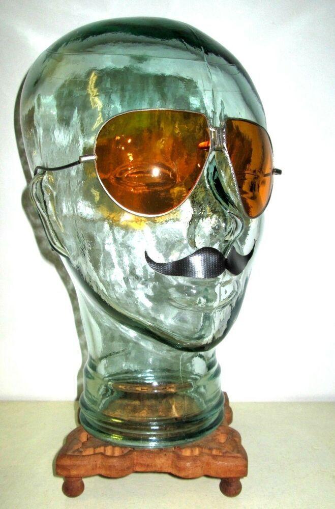 Antique Amber Sunglasses Spectacles Vtg Retro Steampunk