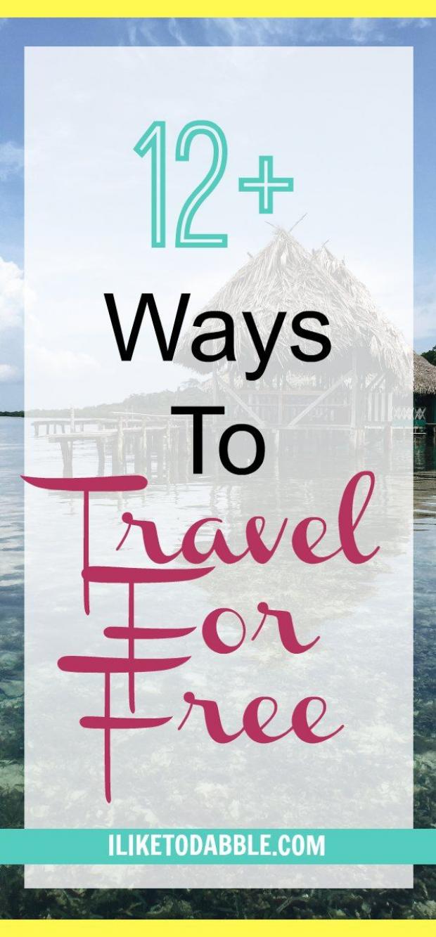 12 Ways To Travel For Free. Summer travel for free. Make a living while traveling. Get paid to travel. Make money blogging. #travelforfree #travelhacking #savemoney #frugal #thrifty #financialfreedom #digitalnomad #nomad #travel #savings #seetheworld #travelhacks #travel #hacks