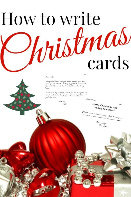 How to write the perfect Christmas cards Christmas cards, Cards