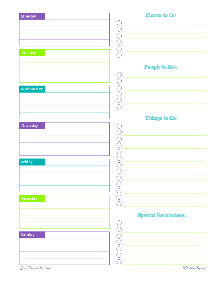 My Five Favourite Printables | Pinterest | Weekly planner, Time ...