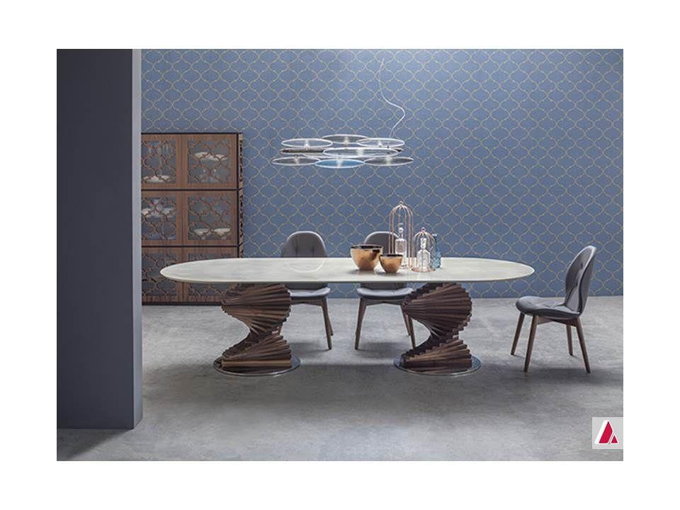 tavolo big firenze tonin casa base legno massello piano vetro ...