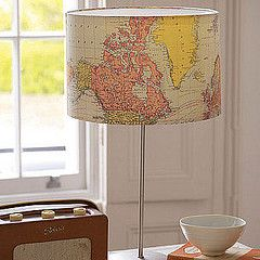 @Tiffany 'Jones' Erickson what if you did this for your bedroom. Use old maps and then put little markers where you and Kev have been!