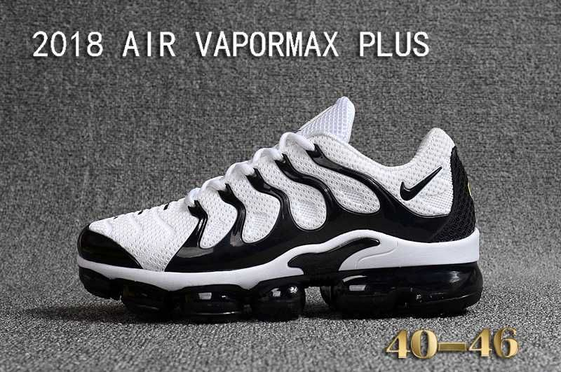 64b29dcf663 NIKE AIR VAPORMAX PLUS TN 2018 KPU Zebra White Black Men Shoes