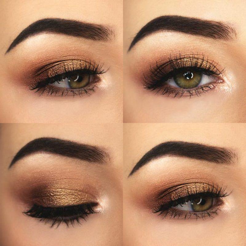 Augen Make Up Braun Make Up Und Tattoo Make Up Augen Abend Make Up Grune Augen Lidschatten Fur Grune Augen