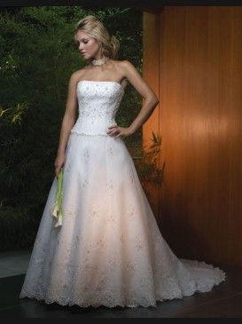 A front photo of my wedding dress.  I felt amazing in that dress.