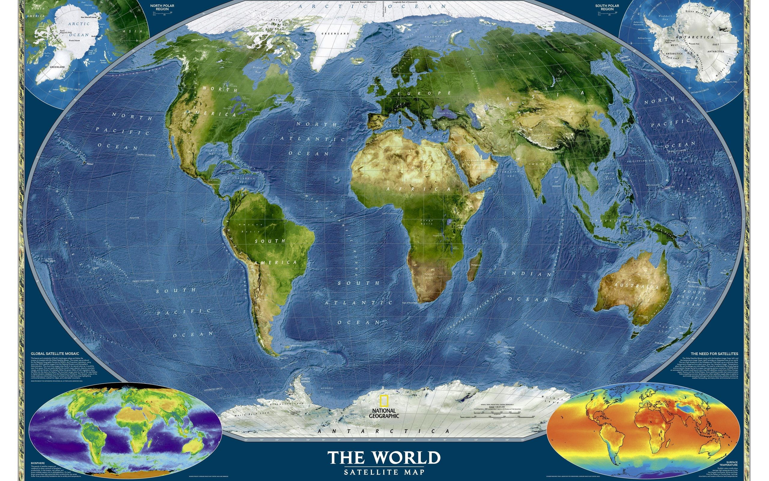 世界衛星地圖 X World Map Pinterest - World satellite map 2014
