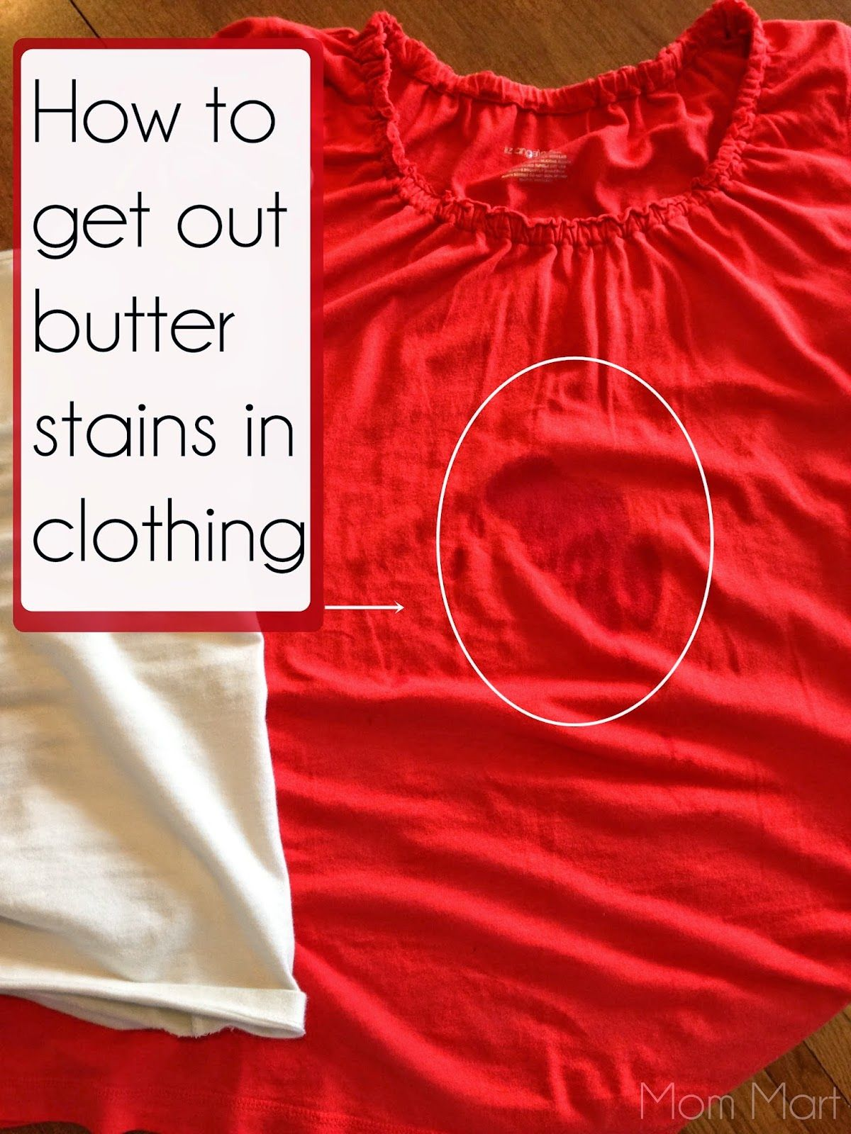 How to remove butter stains from clothing #DIY