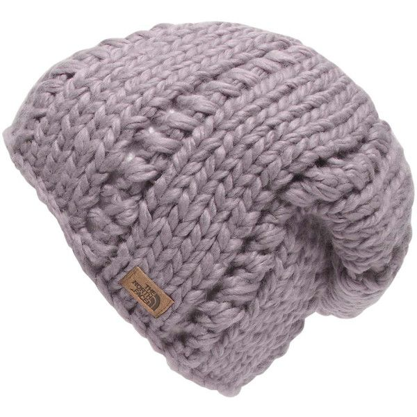 bfcc38a5d9a23 The North Face Women s Chunky Knit Beanie Hats ( 34) ❤ liked on Polyvore  featuring accessories
