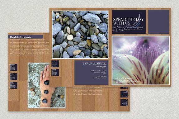 Health Spa Brochure Template  Feeling Slow Life Soothing