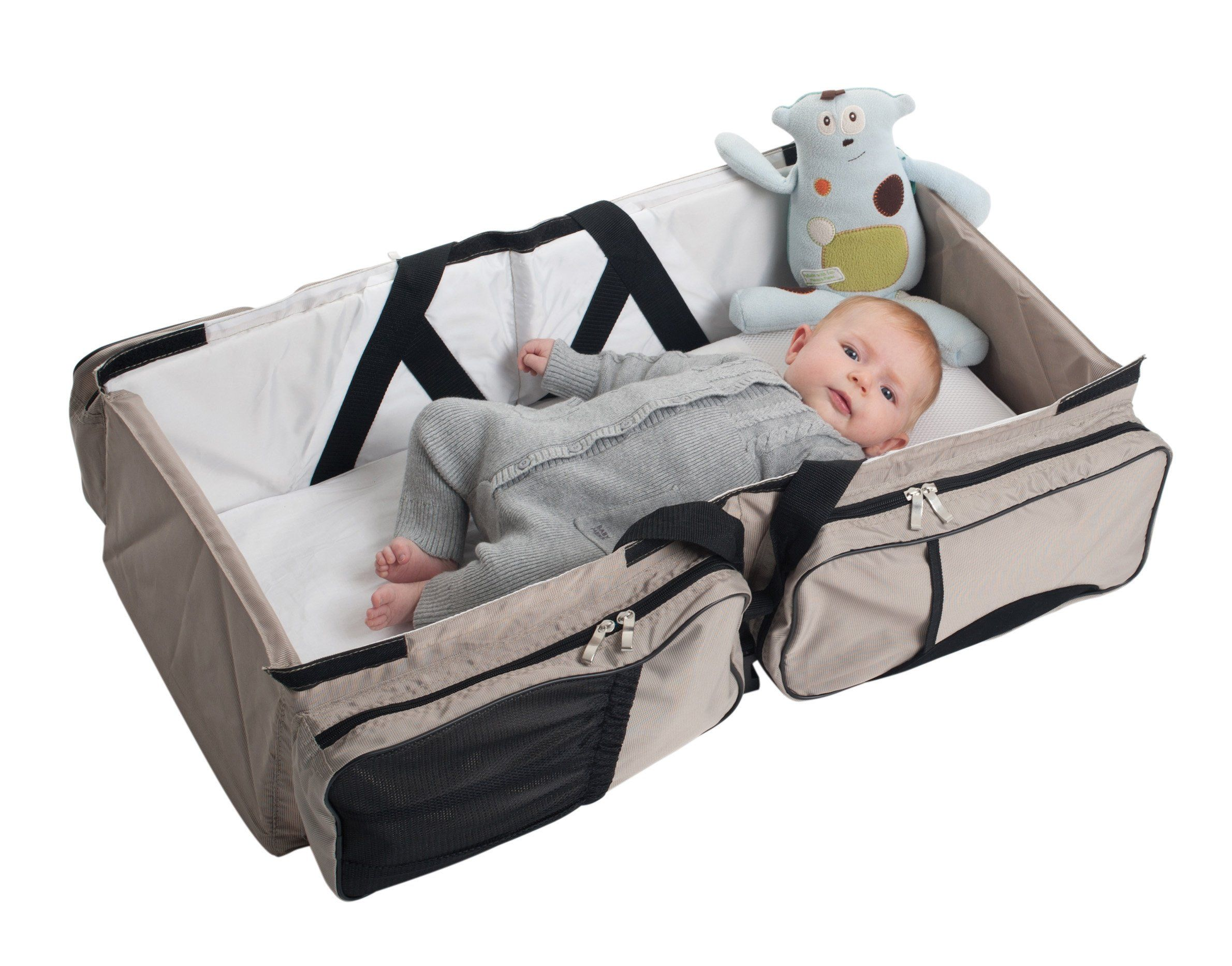 393bf5f57cb Wish I d had one of these when I had babies! Diaper bag that converts into  a bed! Amazon.com   Delta Baby Travel Bag and Carrycot (Khaki)   Baby