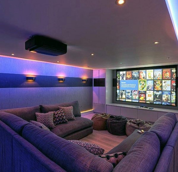 Top 70 Best Home Theater Seating Ideas Movie Room Designs Theater Seating Top 70 Best Home Th Home Cinema Room Home Theater Room Design Home Theater Seating