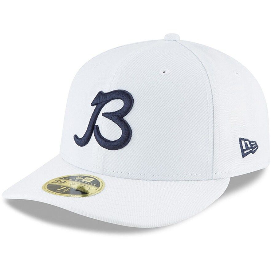 Men S New Era White Chicago Bears B Logo Omaha Low Profile 59fifty Fitted Hat In 2021 Fitted Hats Chicago Bears New Era