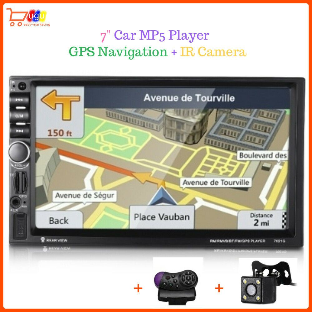 7021G 2-DIN Car MP5 Player Bluetooth HD 7