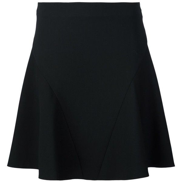 Stella Mccartney Double Faced Flare Skirt ($660) ❤ liked on Polyvore featuring skirts, circle skirt, short skater skirt, stella mccartney, stella mccartney skirt and skater skirt