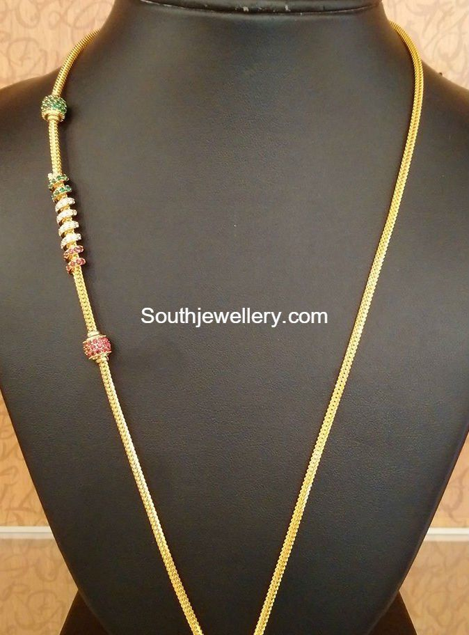 thaali chain designs | Gold necklaces | Pinterest | Chains, Jewel ...