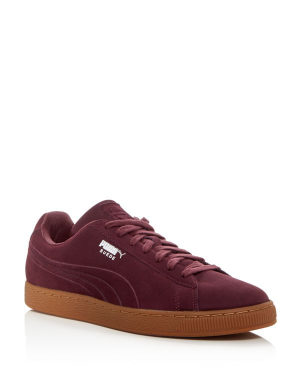 Puma Suede Classic Debossed Q4 Lace Up Sneakers  fb91e4d88