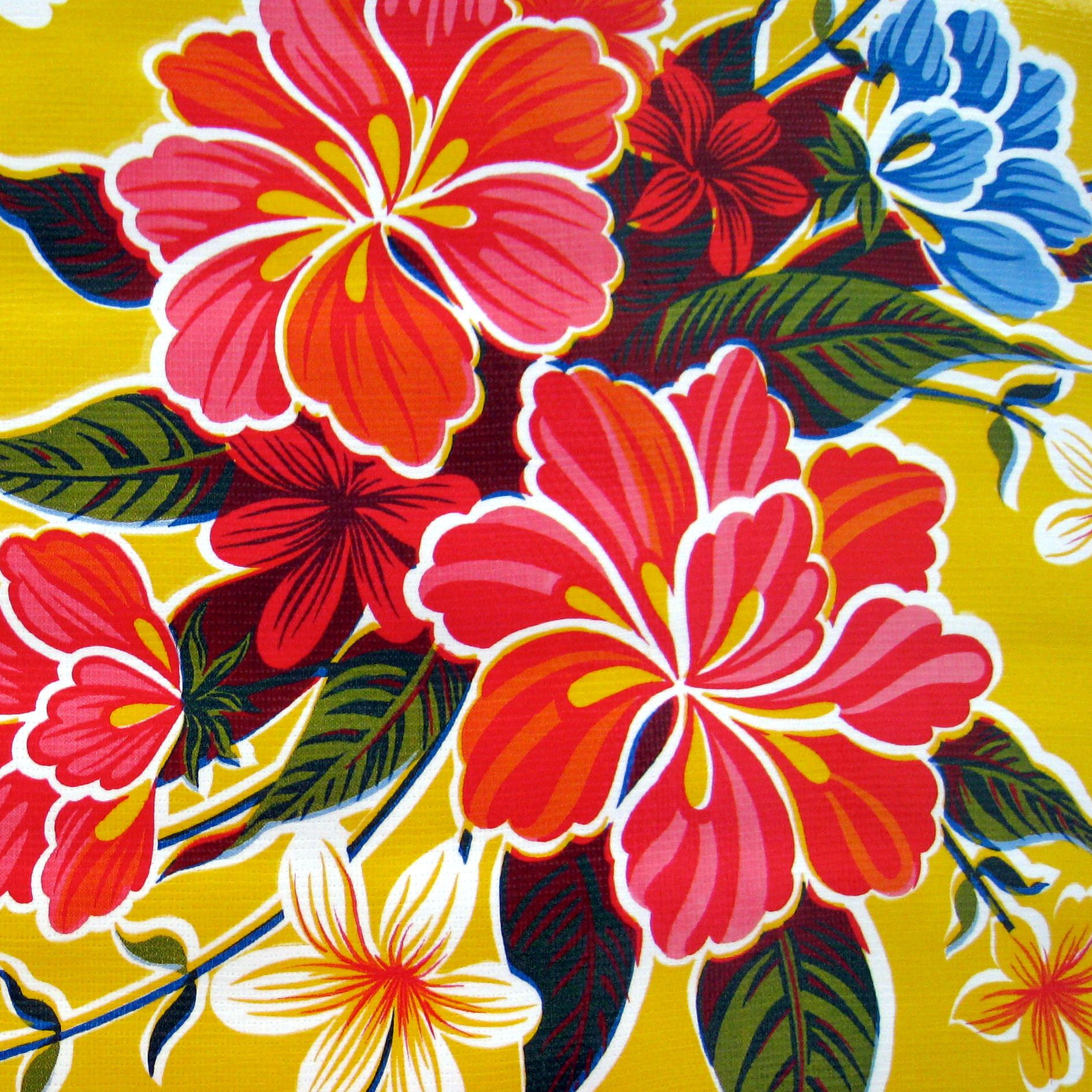 Mexican Oilcloth Tablecloth Mexican Flowers Mexican Paintings