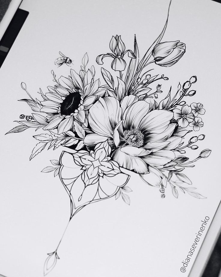 Diana Severinenko auf Instagram: Verfügbares Design ? #tattoos - Diy Flowers