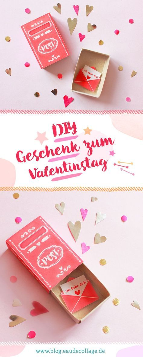 DIY Streichholzschachtel zum Valentinstag FREE PRINTABLE | DIY Blog