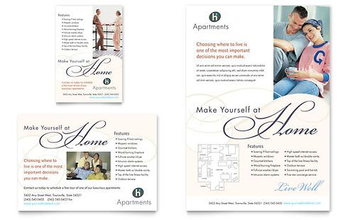 apartment condominium flyer ad word publisher template