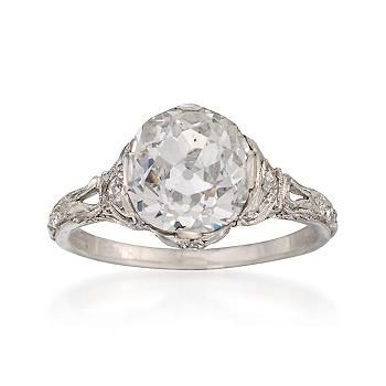 A 1910 Engagement Ring Vintage Has So Much More Character Than The New Stuff