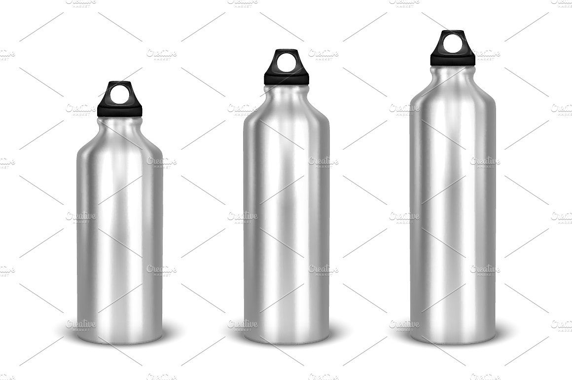 Water bottle Vector set files pcs file Zip